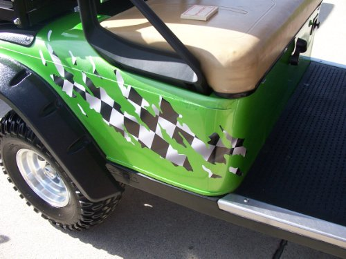 Full Color Printed All Make Golf Cart Ezgo Club Car Ripped