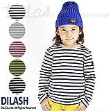 (ディラッシュ) DILASH兄弟姉弟お揃い ボーダー長袖Tシャツ/秋 ベビー キッズ 男の子 90 ブラック