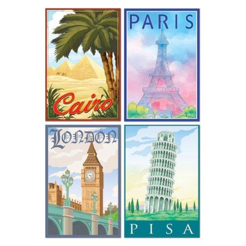International Travel Cutouts (4/Pkg)
