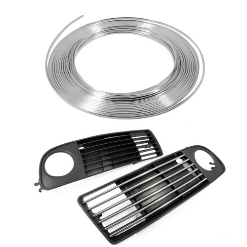 Chrome Silver Effect Air Vent Strips 3M X 6Mm Diy Moulding Chrome Line For Gate Door Trim Panel Air Condition Brand New front-432800