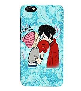 Fuson Love Couple Back Case Cover for HUAWEI HONOR4X - D4001