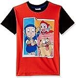 Ninja Hattori Boys' T-Shirt (HST-2133_Orange_5 - 6 years)