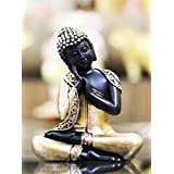 CraftJunction Antique Black Golden Coloured Thai Buddha Showpiece(6.5*5*3 Inches)