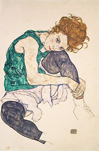 egon-schiele-gambe-elaborato-adele-herms-vintage-stampa-fine-art-laccato-carta-carta-up-to-594mm-by-