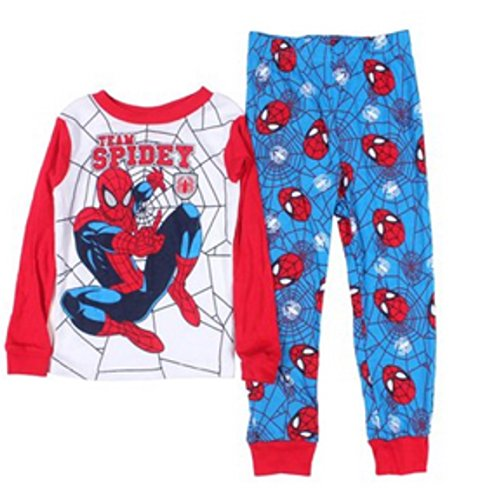 Spider-Man Little Boys 3T-5T Long Sleeve Cotton Pajama Set (4T) back-454198