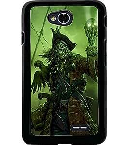 ColourCraft Devil look Design Back Case Cover for LG L70