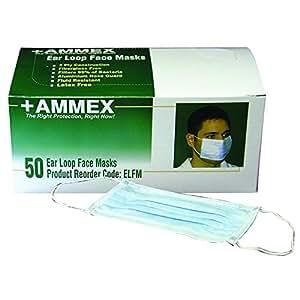 Ammex ELFM Earloop Style Face Mask (Box of 50)