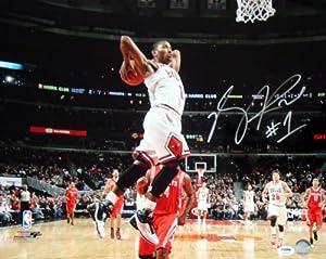 Derrick Rose Autographed Chicago Bulls 16x20 Photo #8 PSA DNA