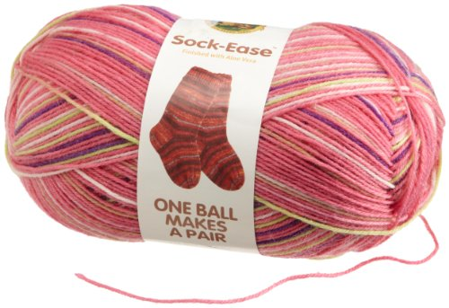 Lion Brand Yarn 240-205L Sock-Ease Yarn, Cotton