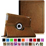 Fintie Apple iPad 2/3/4 Case - 360 Degree Rotating Stand Smart Case Cover for iPad with Retina Display (iPad 4th Generation), the new iPad 3 & iPad 2 (Automatic Wake/Sleep Feature), Z-Vintage Antique Bronze
