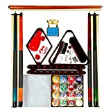 Billiard Pool Table Accessory Kit W/ Swirl Marble Style Ball Set ~ Iszy Billiards