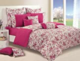Swayam Shades of Paradise Printed Cotton Single Duvet Cover - Wine (TSR01-2712)