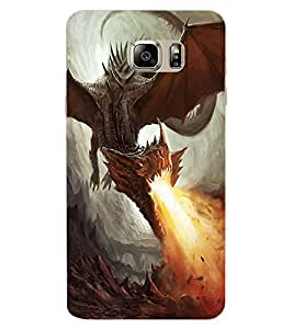 ColourCraft Fire Breathing Dragon Design Back Case Cover for SAMSUNG GALAXY NOTE 6