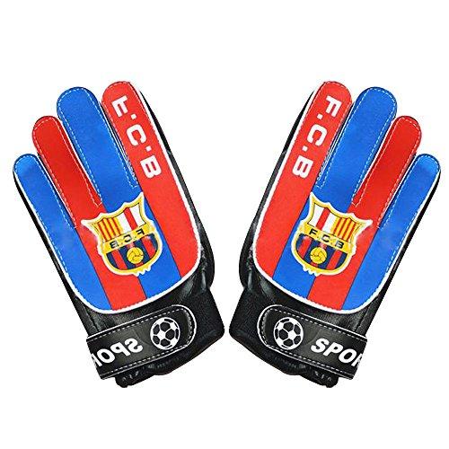 Lmeno Guantes de Portero para Fútbol para Adulto y Niños Unisexo Cuero PU Soft Advanced Pro Comfort Multicolor 2 talla–S (20*10cm)