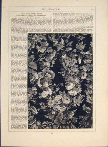 Carpet Manufacture Engravings Patterned Old Fine Prints