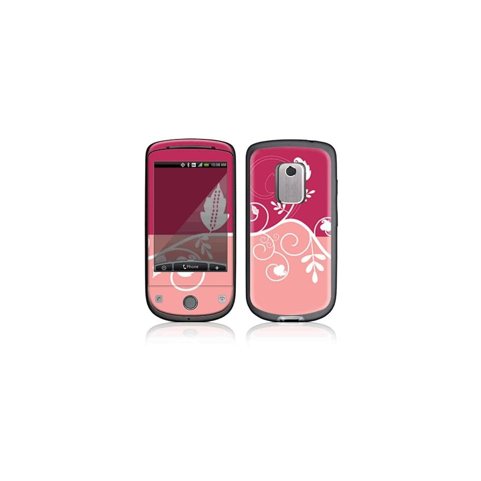 Pink Abstract Flower Decorative Skin Cover Decal Sticker for HTC Hero (Sprint) Cell Phone