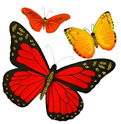 Martha Stewart Crafts Stickers, Red and Orange Butterfly