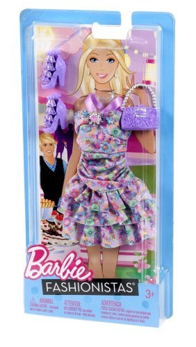Barbie Fashionistas - Pastel Ruffle Dress with Accessories - 1