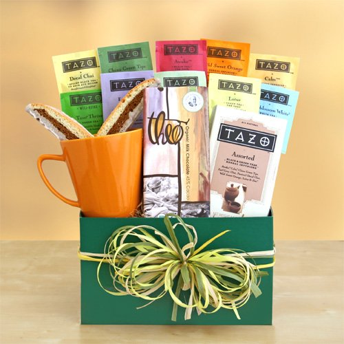 Tazo Tea Gourmet Tea Gift Set | Great Tea Gift For Any Tea Drinker! | Organic Stores Gift Baskets (Tazo Tea)