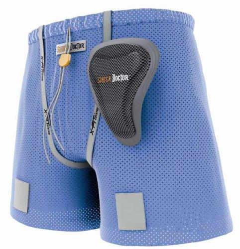 Shock Doctor Girl's Loose Hockey Short with Pelvic Protector (Medium, Black)