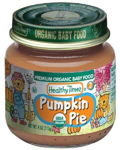 Healthy Times Organic Baby Food, Pumpkin Pie, 4-Ounce Jars (Pack of 12)