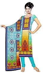 BalajiWomen's Crepe Unstitched dress material(104-multicolor-free size)
