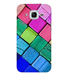 EPICCASE color squares Mobile Back Case Cover For Samsung J2 2016 (Designer Case)