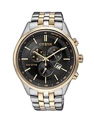 Citizen Eco-Drive Analog Black Dial Men's Watch - AT2144-54E