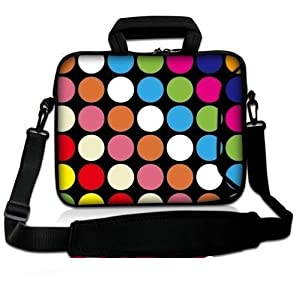 "Colorful Dots 9.7"" 10"" 10.1"" 10.2 inch Laptop Netbook tablet Messenger"