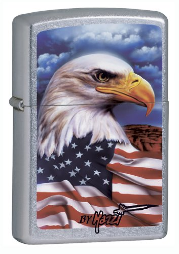 "Zippo Claudio Mazzi ""Freedom Watch"" Lighter with Street Chro"