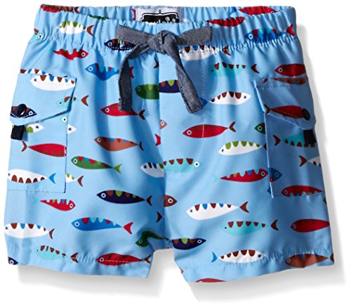 Mud Pie Baby Fish Swim Trunks, Multi, 12-18 Months
