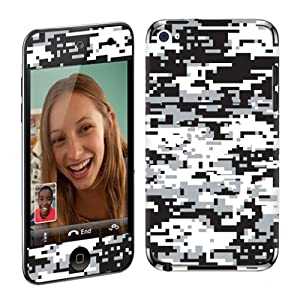 Apple iPod Touch 4G (4th Generation) Vinyl Decal Protection Skin Black White Camo
