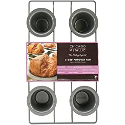 6 Cup, Popover Pan with Non-Stick Coating Easy Release Surface
