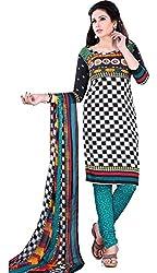 Swaman Women's Synthetic Salwar Suit Dress Material(0729LAD00014_Multicolor)