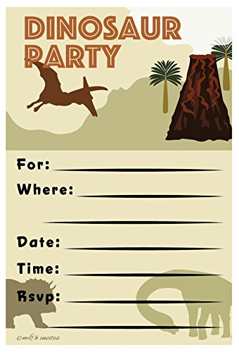 Lowest Price! Dinosaur Invitations Birthday Party - Fill In Style (20 Count) With Envelopes