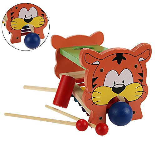 Arshiner Wooden Toys Pound And Tap,Tap Bench with Slide out Xylophone,Kids Wooden Educational Development Music Toy