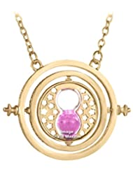 Famous Harry Potter Time Turner Necklace By Via Mazzini (Pink Sand)