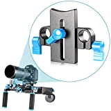 Neewer® プロフェッショナル柔軟なビッグレンズロッドサポートブラケッ ト DSLRリグ15MMロッド用