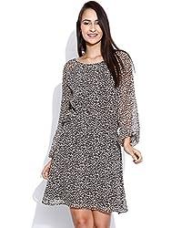 Vaak Leopard Print Dress Brown-L