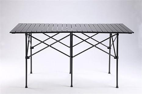 MONEYY Cuadro de aluminio de 1,4 m mesas plegables de aleación de aluminio auténtico auto table acampar al aire libre, mesas de picnic de 140 X 70 X 70 CM.