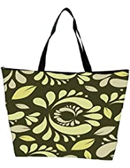 Snoogg Seamless Floral Pattern Abstract Background Waterproof Bag Made Of High Strength Nylon - B01I1KJN08