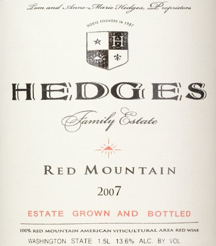 2007 Hedges Family Estate Red Mountain Red Blend Limited Edition Large Format 1.5 L