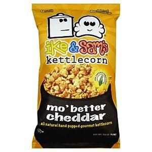 Ike & Sam's More Butter Cheddar Kettlecorn, 7.5-Ounce (Pack of 6)