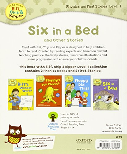 Oxford Reading Tree Read With Biff, Chip, and Kipper: Level 1 Phonics & First Stories: Six in a Bed and Other Stories (Read With Biff Chip & Kipper)