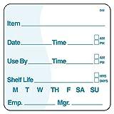 DayMark IT112437 DissolveMark Item/Date/Use By/Shelf Life Dissolvable Label, 2