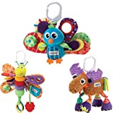 Lamaze Jacques The Peacock Plus Freddie The Firefly And Mortimer The Moose Baby Bundle