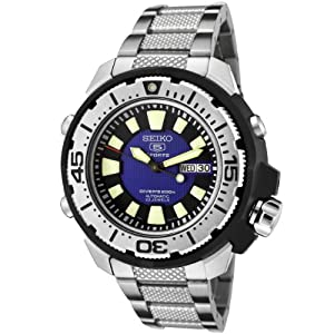 Seiko Men's SKZ245 5 Sports Automatic Blue Dial Stainless Steel Diver Watch