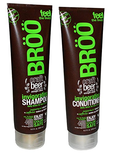 BROO Craft Beer Invigorating Shampoo and Conditioner Malted Mint 100% Natural Scent Color Safe and Vegan (Craft Beer Shampoo compare prices)