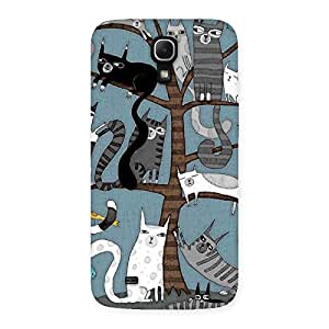 Cute Cat On Trees Print Back Case Cover for Galaxy Mega 6.3