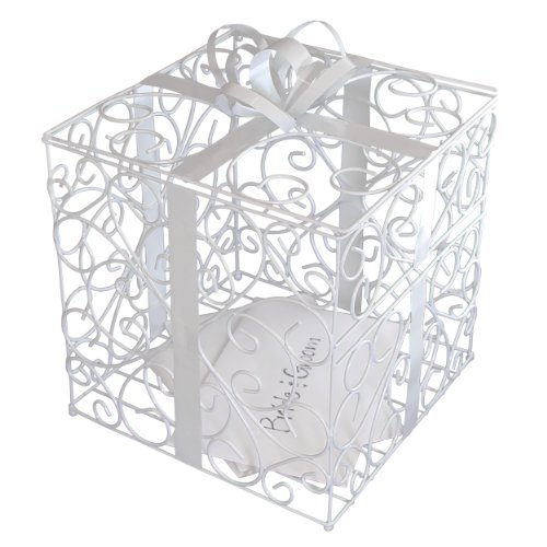 Cathy's Concepts Reception Gift Card Holder, White